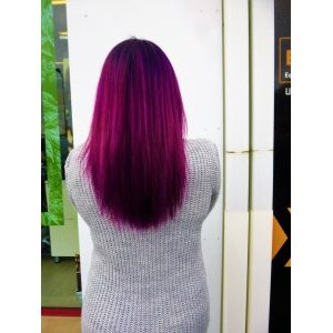 Coloration cheveux rose fuchsia